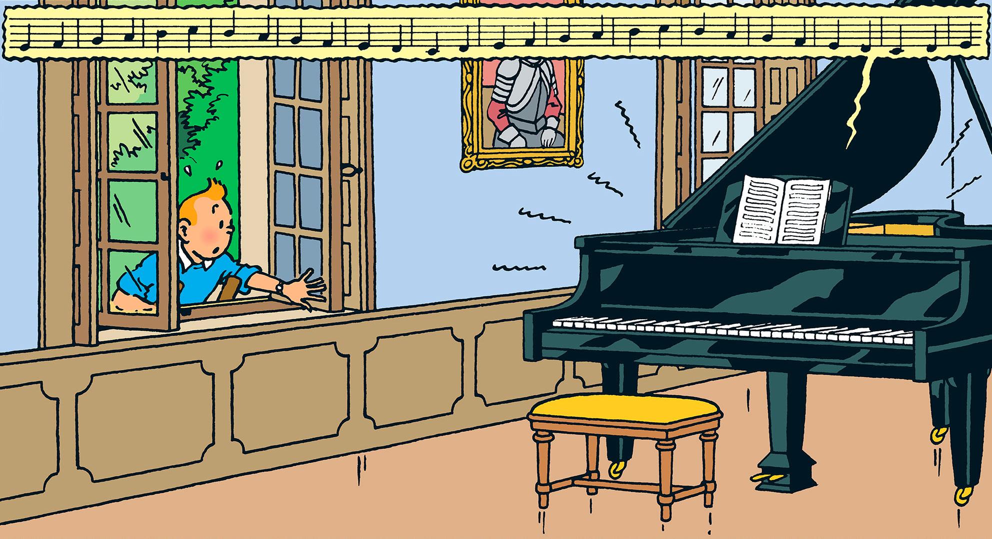 Les Bijoux de la Castafiore - Piano - Tintin