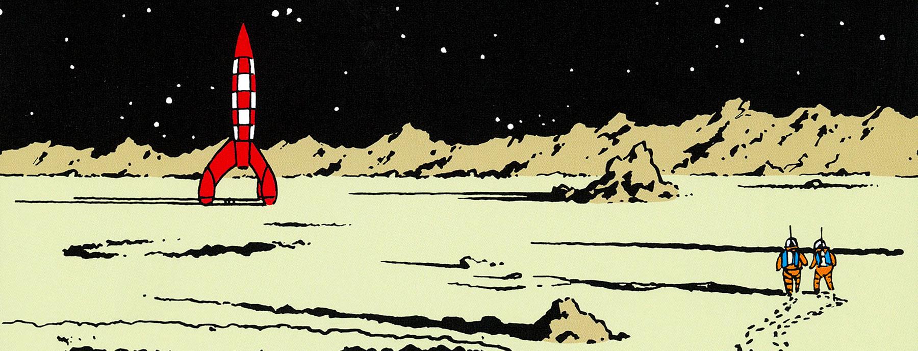Tintin Explore on the Moon