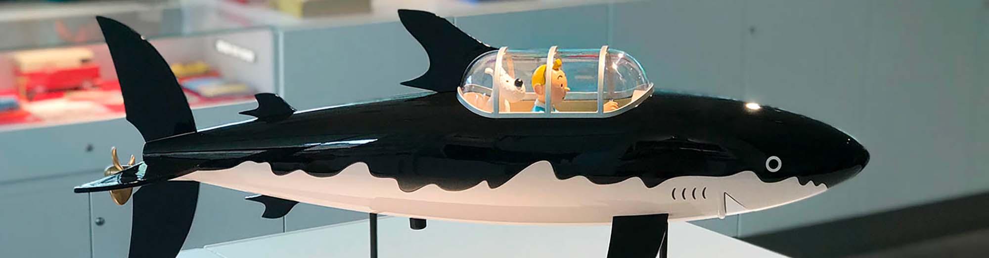 Statuette Sous-marin Tintin Le Trésor de Rackham le rouge