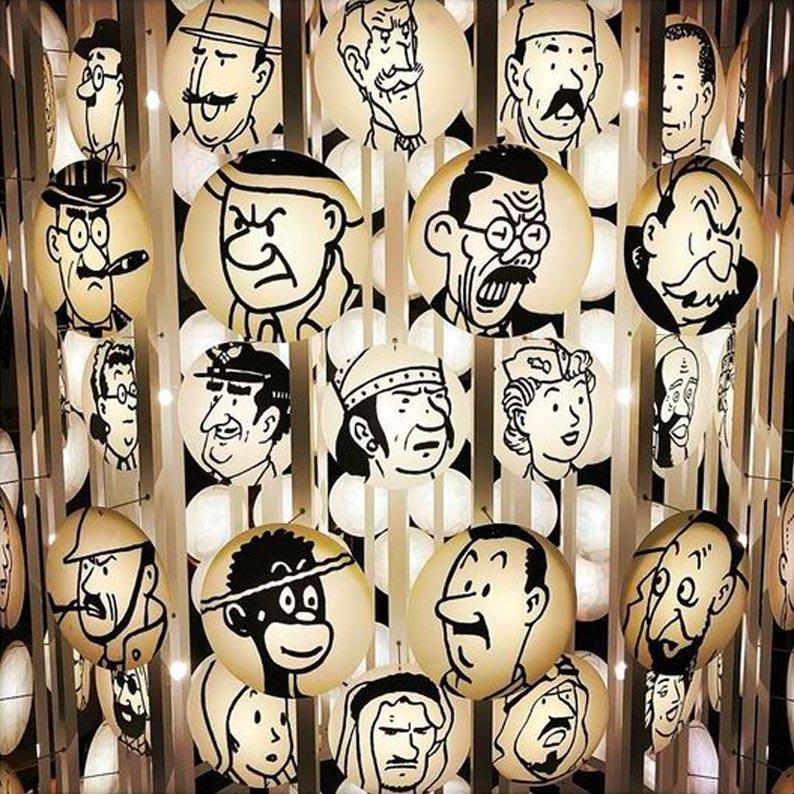 Musée Hergé characters galerie