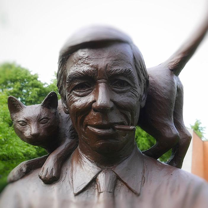 Een bronzen Hergé