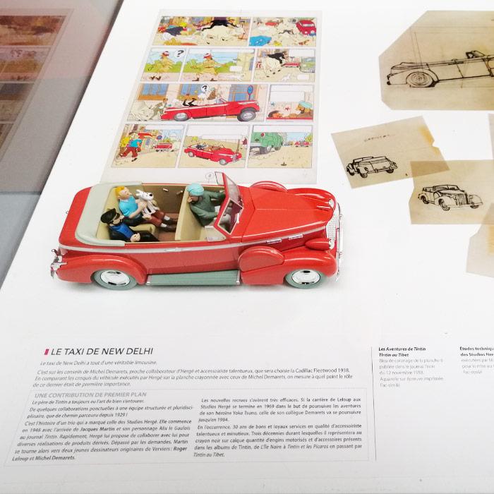 Musée Hergé - Exposition des voitures Tintin