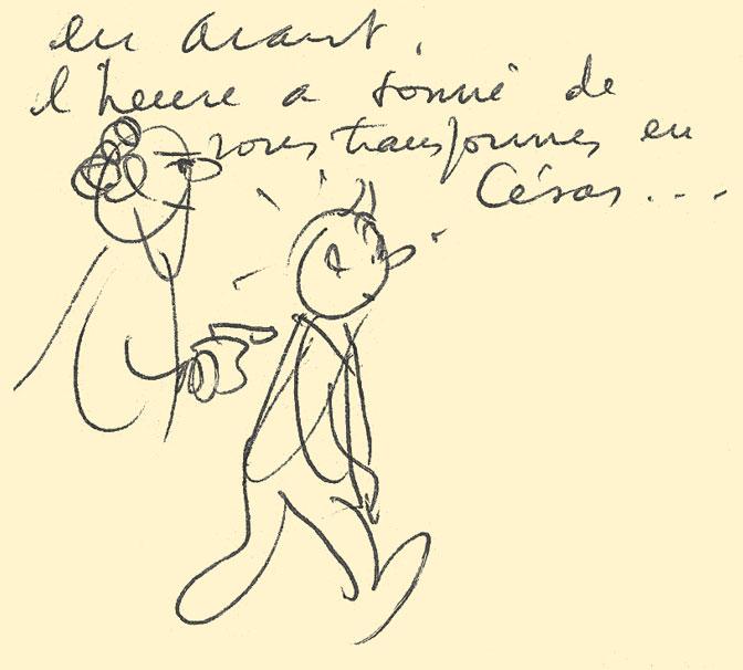 Tintin et l'Alph Art - César