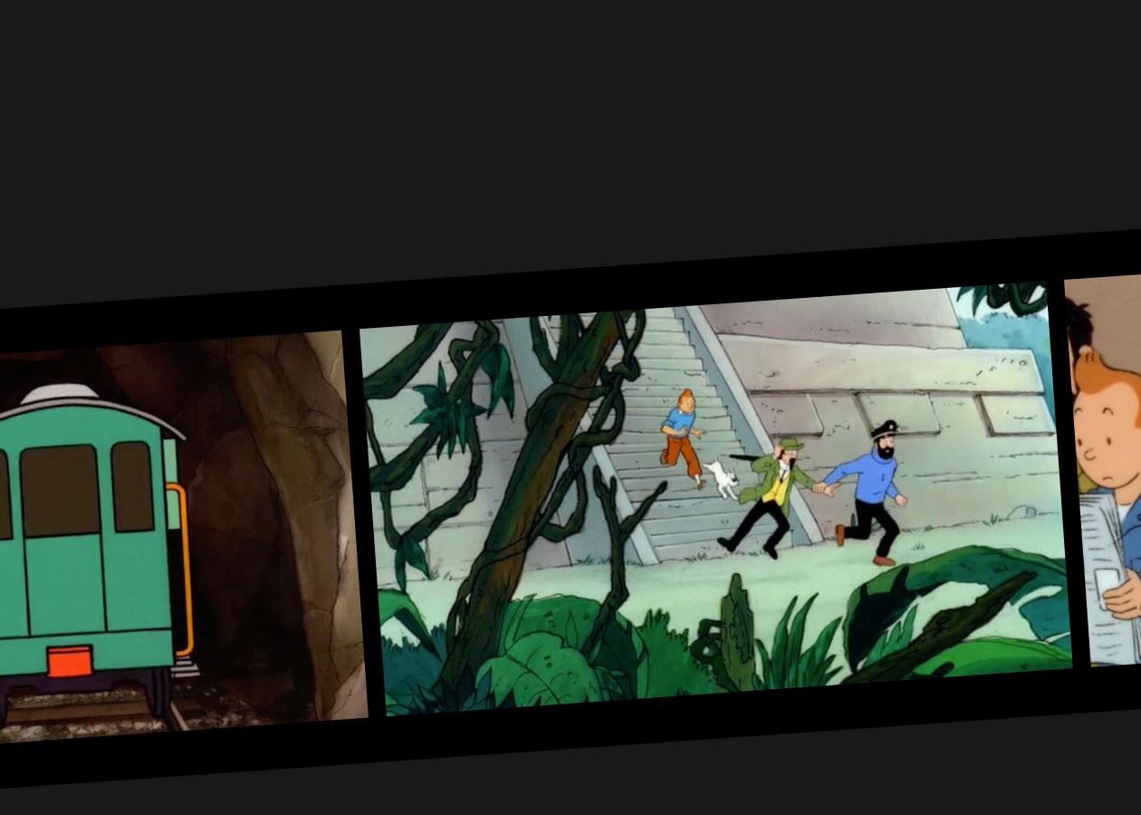 Cartoon Tintin and the Picaros