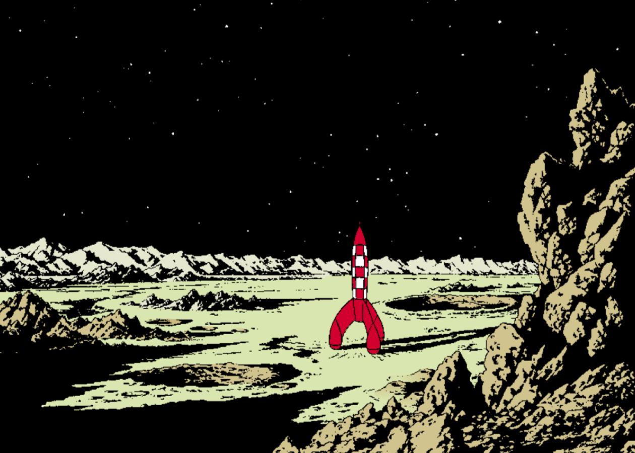 Dossier tintin - La conquête de la lune - Hergé