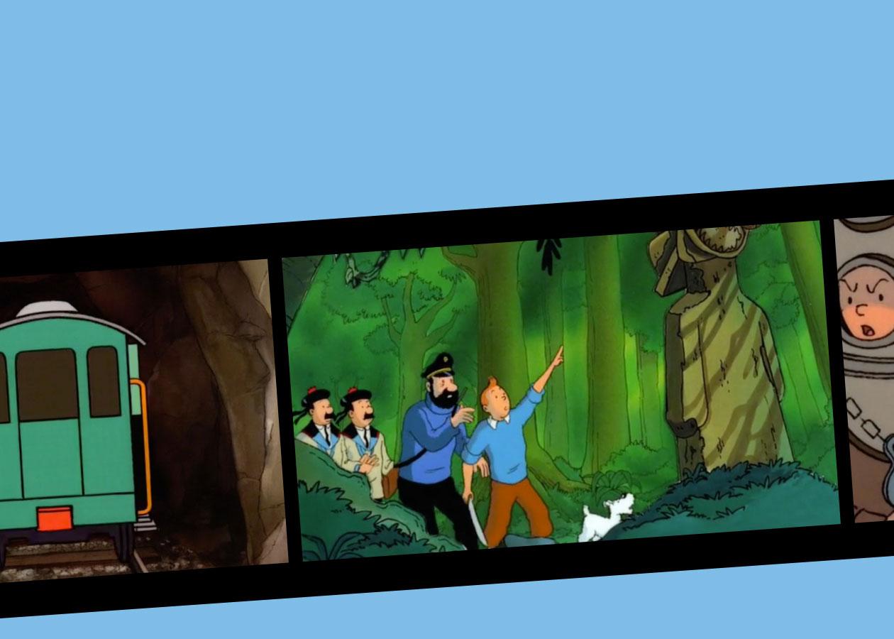Vidéo dessin animé Tintin Le Trésor de Rackham le Rouge