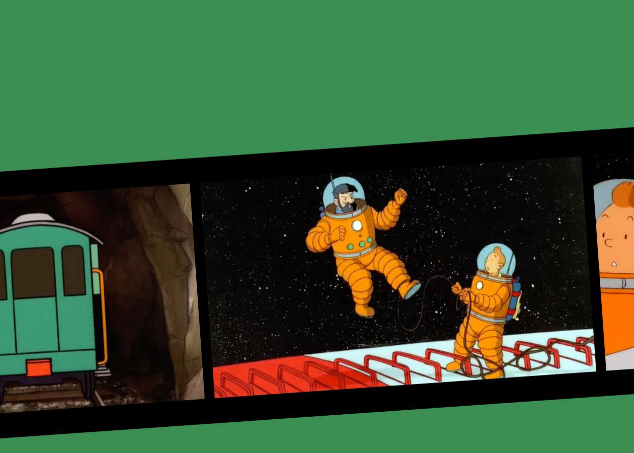 Vidéo dessin animé On a marché sur la Lune