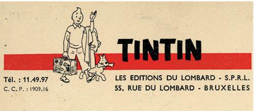 Têtière du Journal Tintin