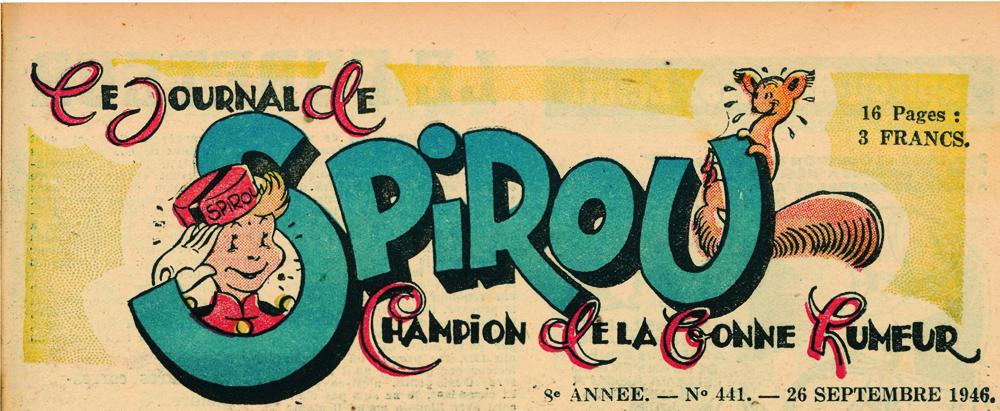 Têtière du journal de Spirou