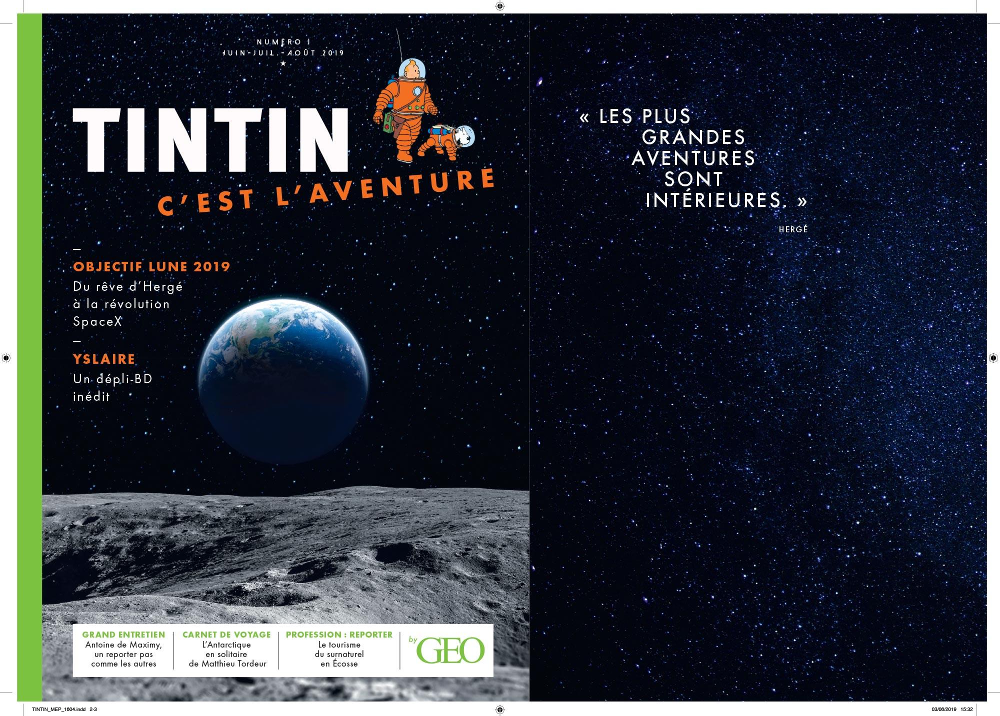 Tintin c'est l'aventure - Géo - Couverture