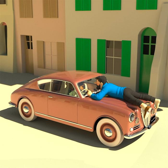 Les voitures de Tintin en Belgique