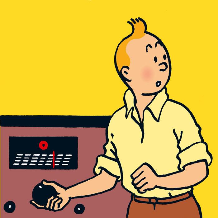 Tintin à la radio ce 10 janvier