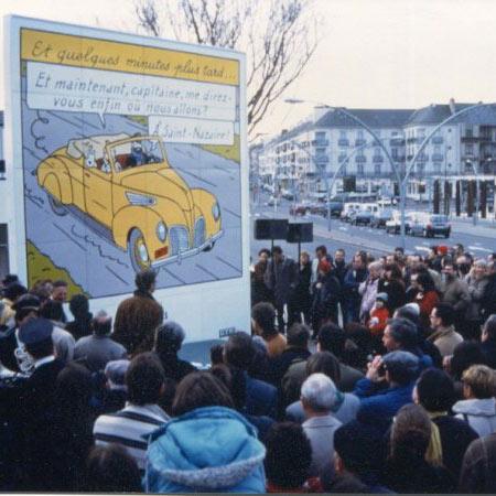 Le retour de Tintin à Saint-Nazaire