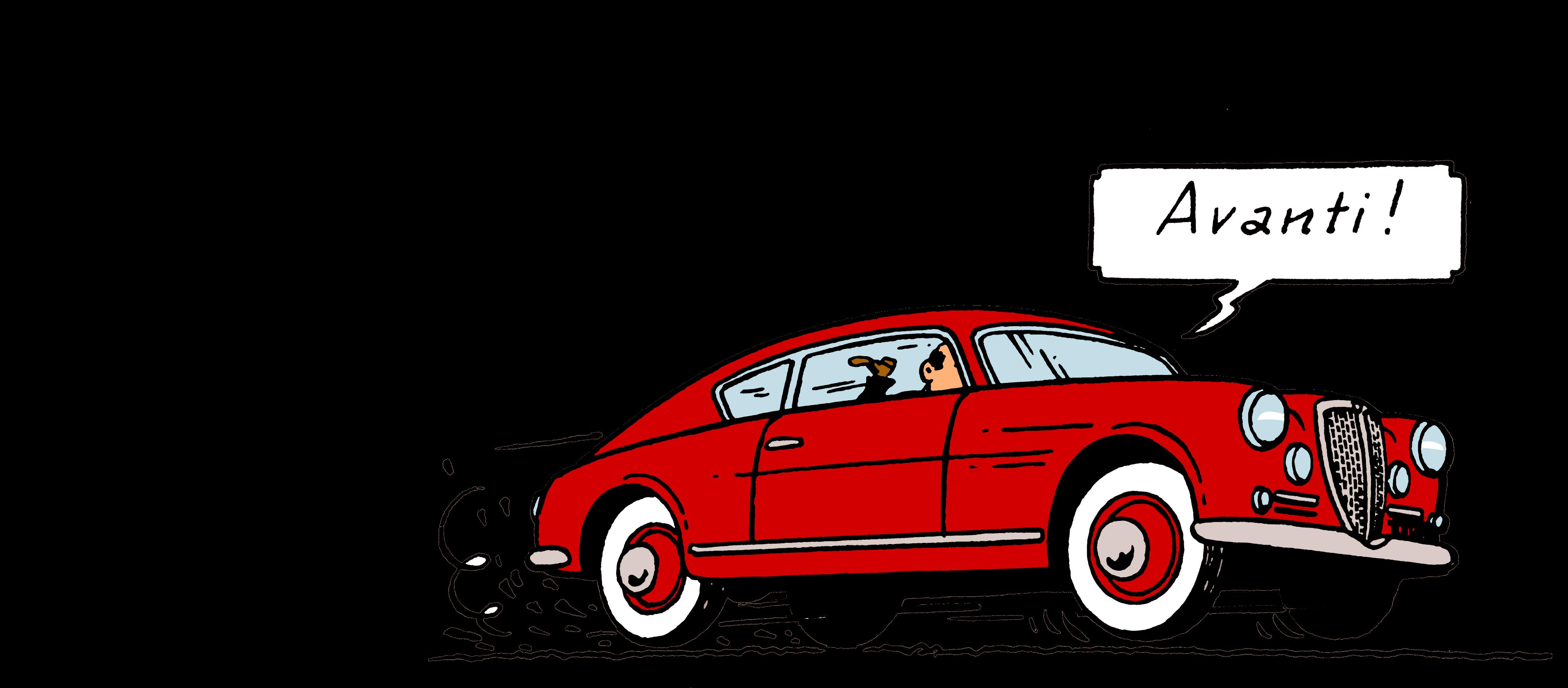 Exposition Musée Hergé en voiture avec Tintin
