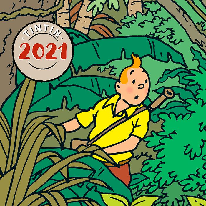 Le nouveau calendrier Tintin 2021