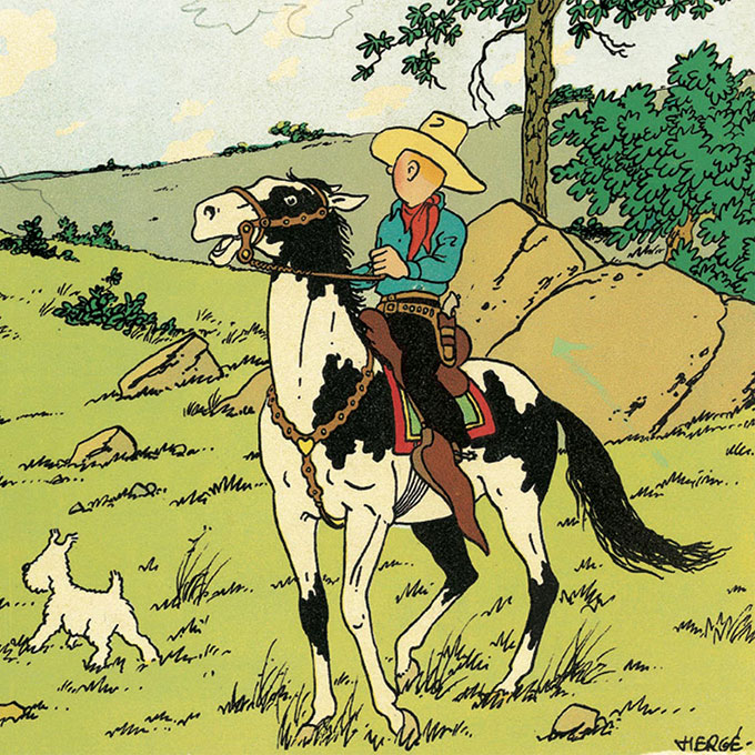 "New temporary exhibition ""In America with Tintin"""