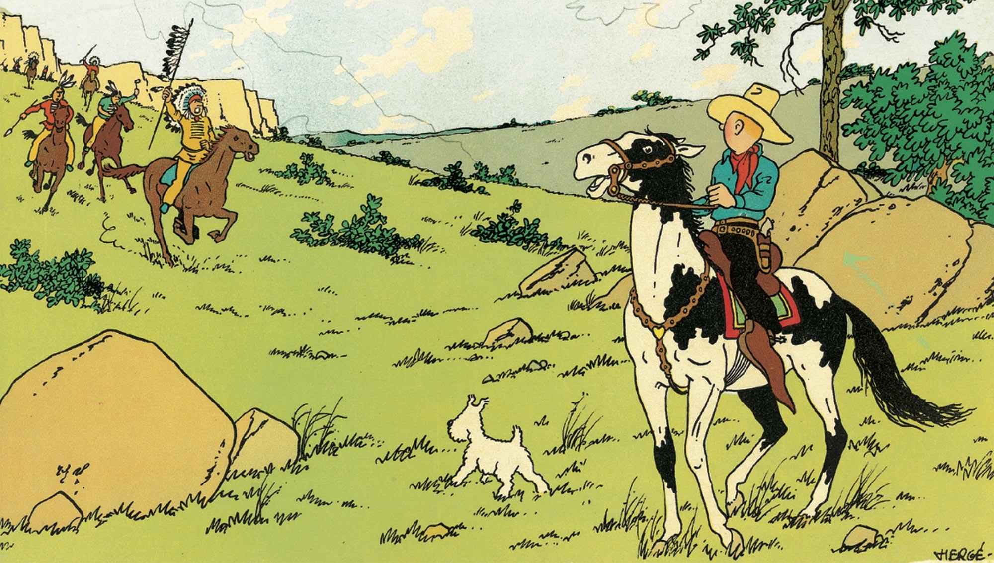 Tintin en Amérique au Musée Hergé