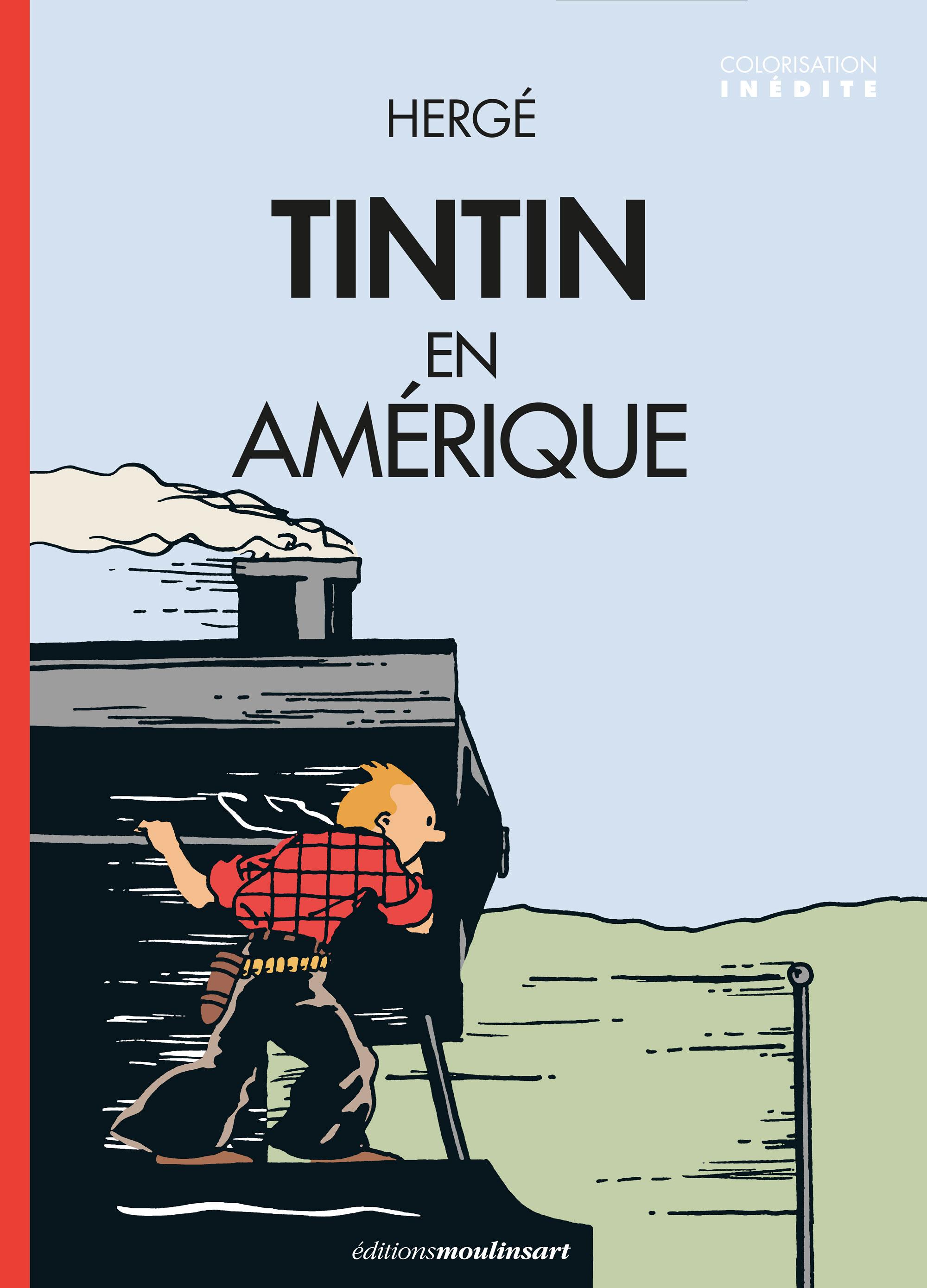 Couverture de Tintin en Amérique colorisé