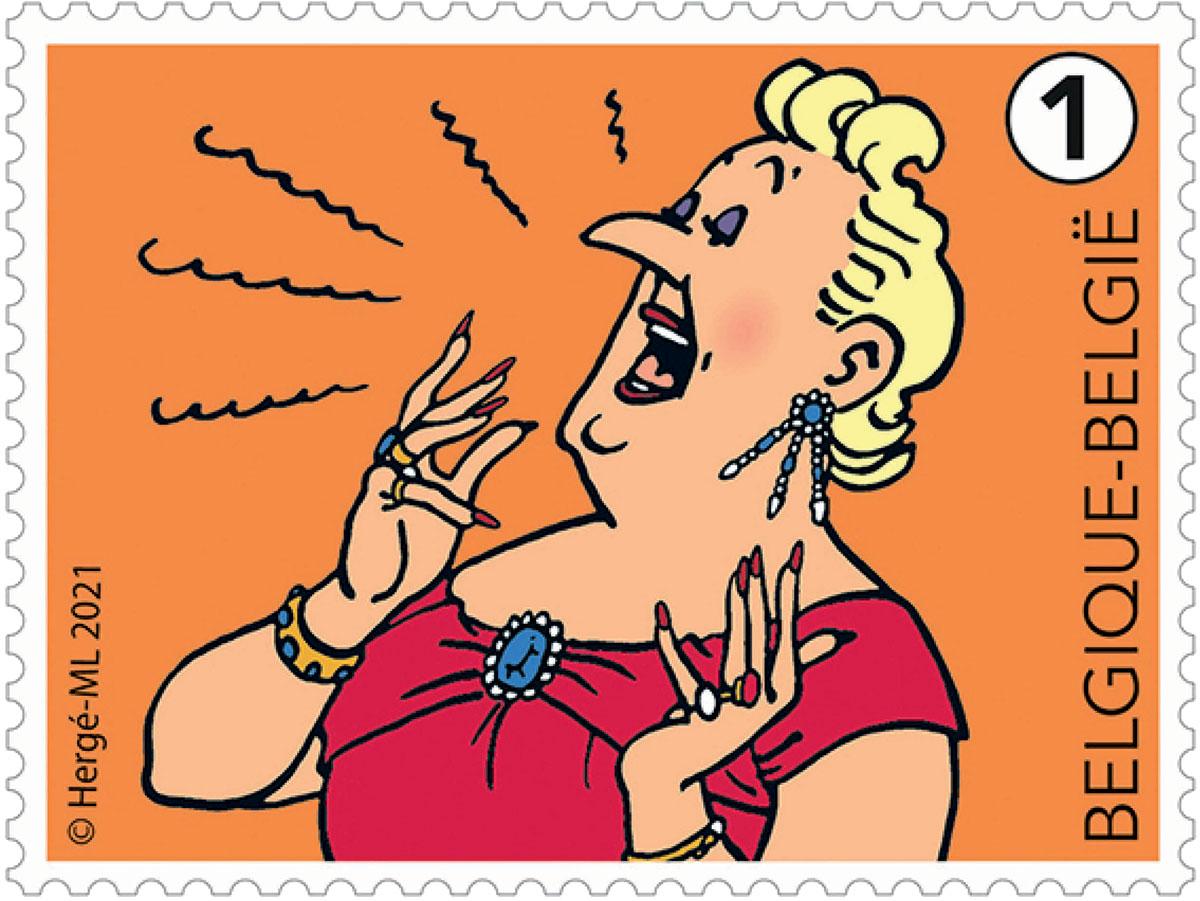 Stamp Bianca Castafiore bpost 2021
