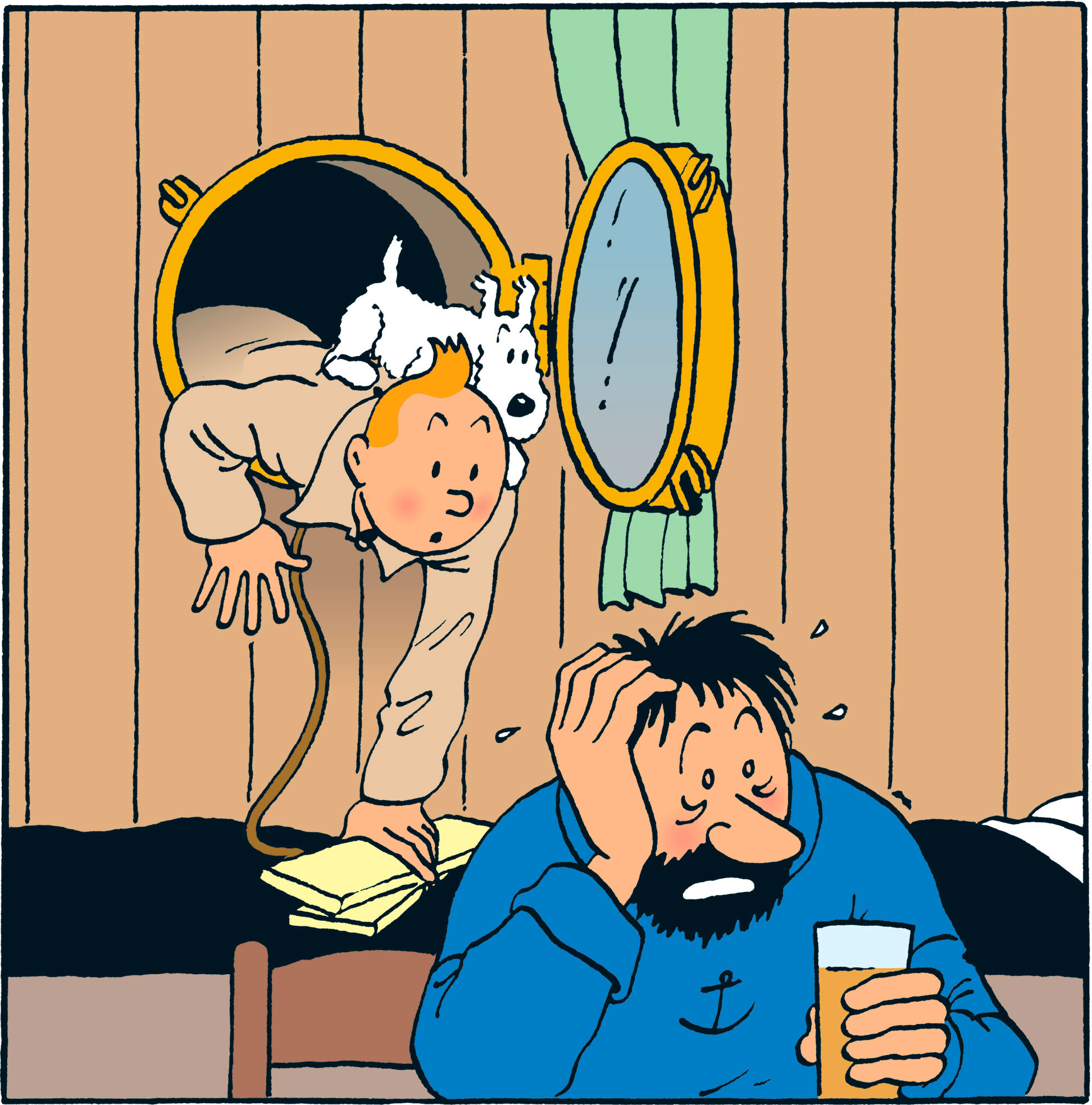 Première rencontre Tintin et Haddock