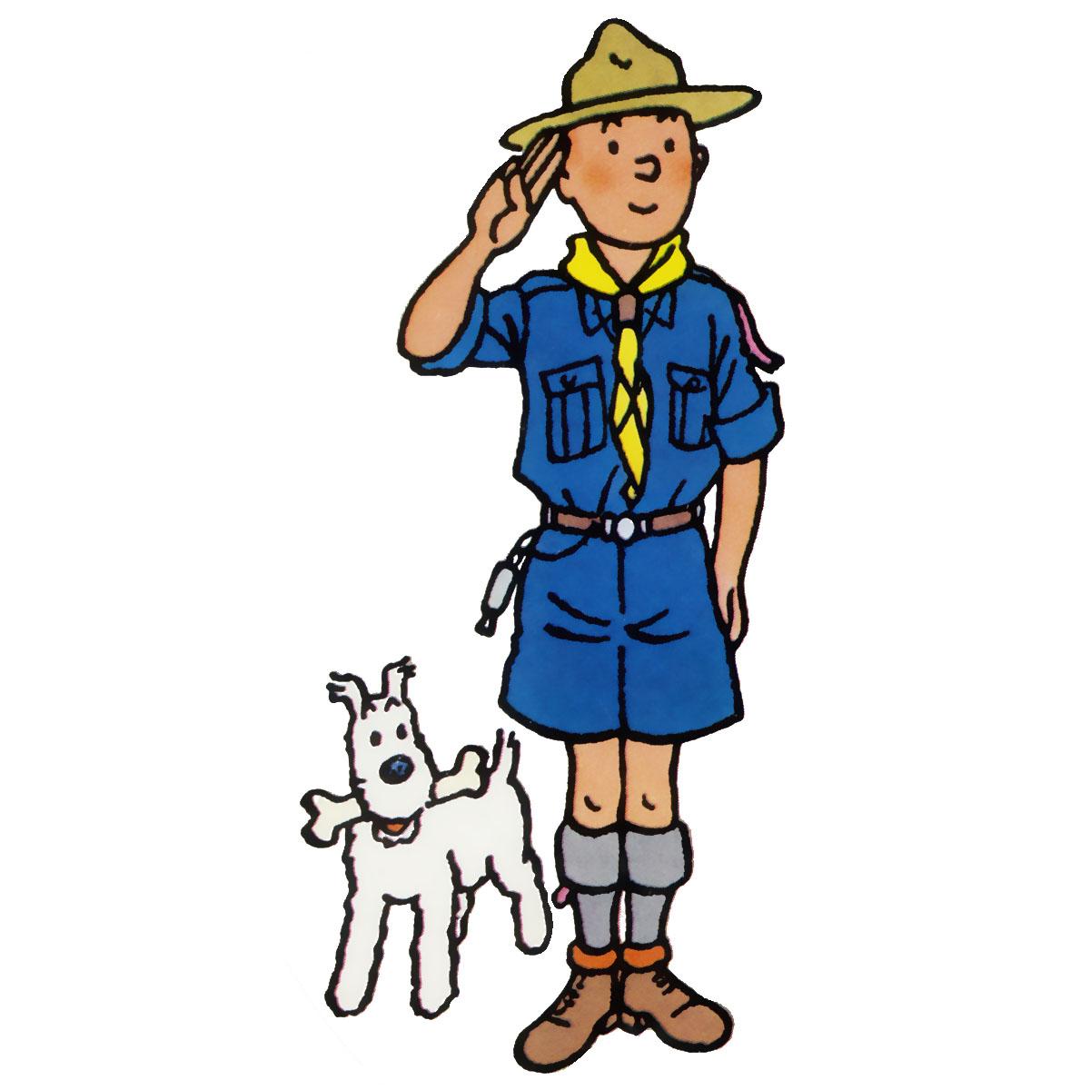 Hergé : les scouts à l'honneur