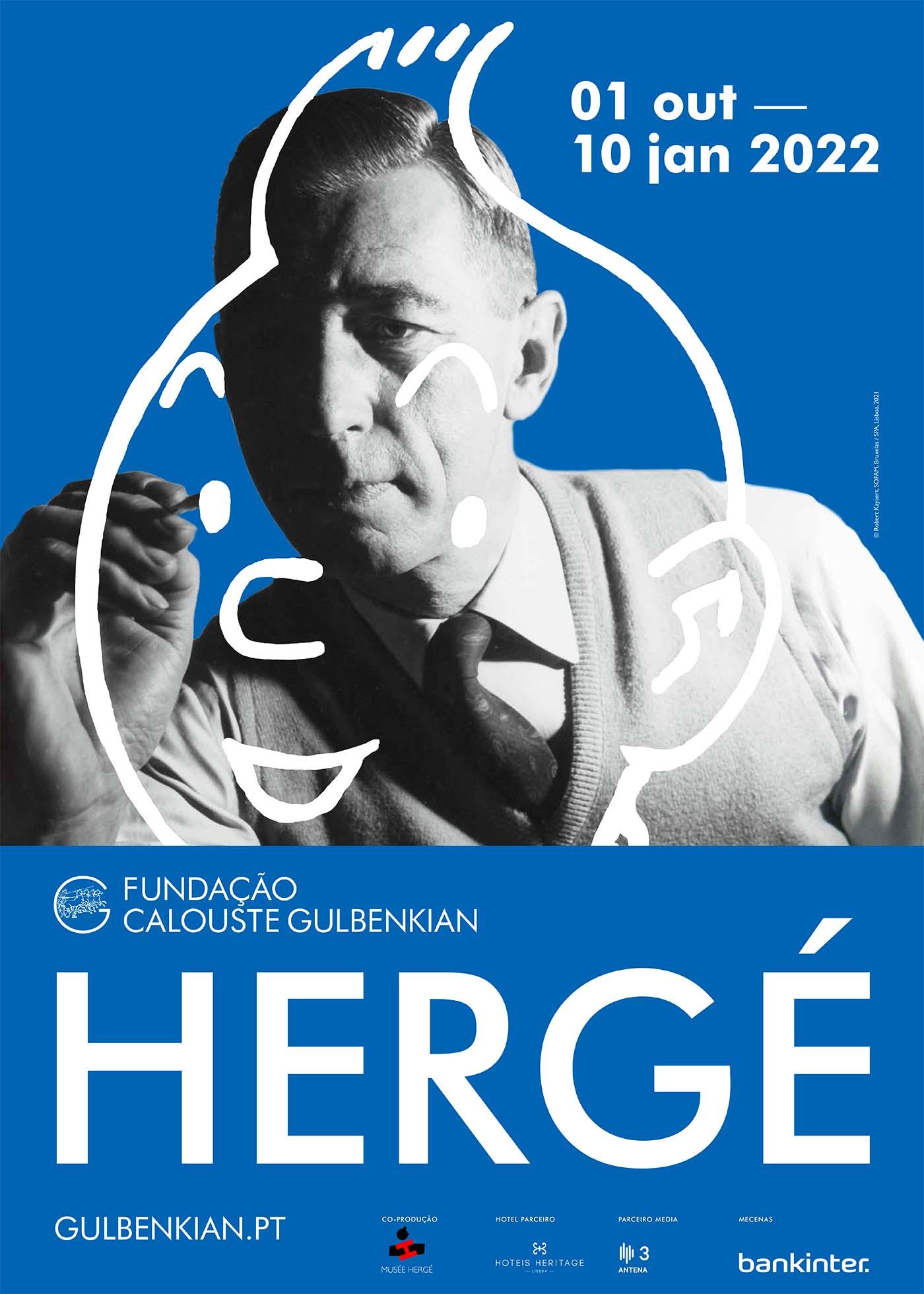 Affiche exposition Hergé à Lisbonne