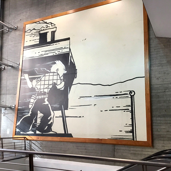 A digital legend for the Tintin's fresco at Brussels-South station