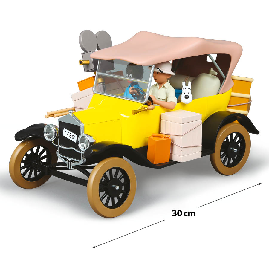 La voiture jaune de Tintin
