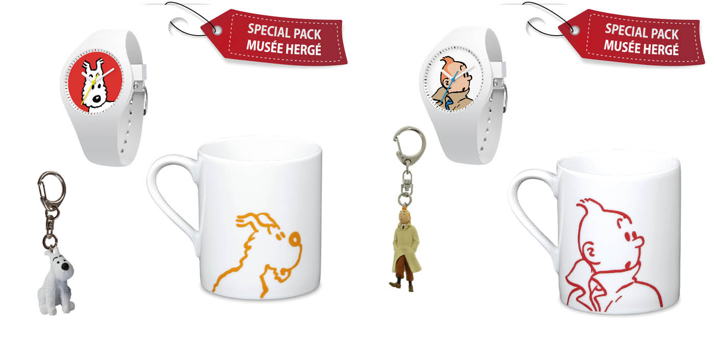 PACK SNOWY price is 75€ and PACK TINTIN white price is 75€