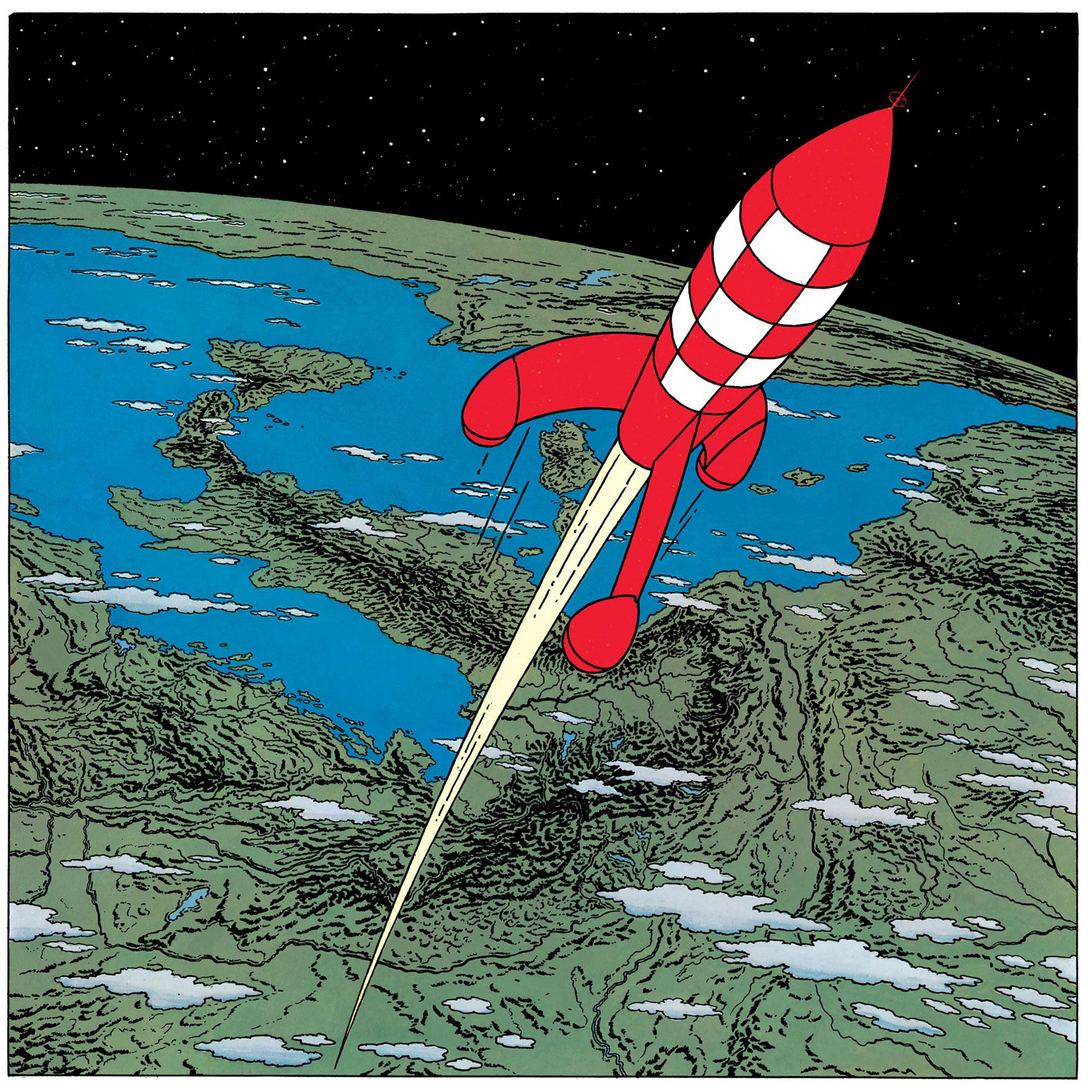 La fusée dans Objectif Lune