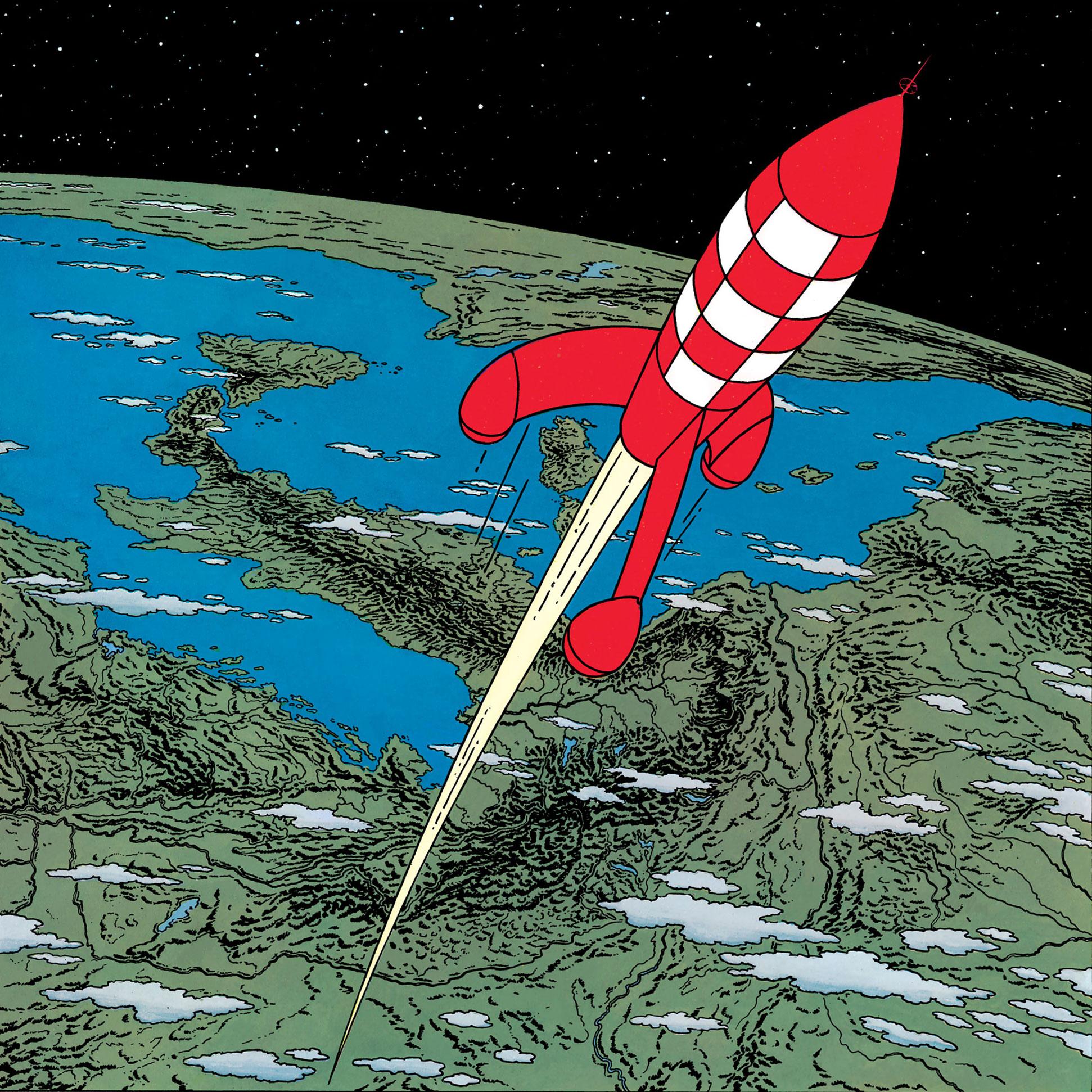 Les super-puissances, Tintin et l'espace