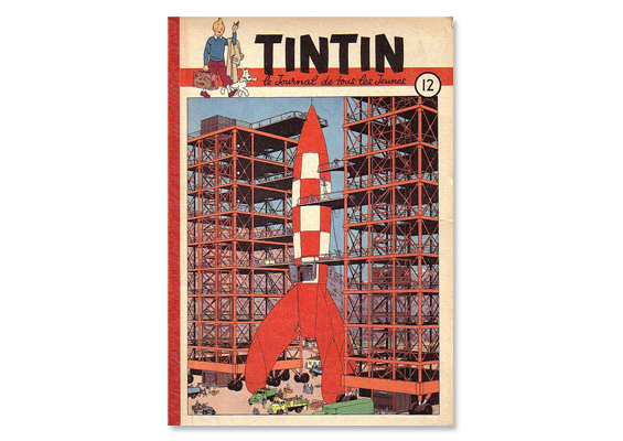 Journal Tintin's cover in 1950