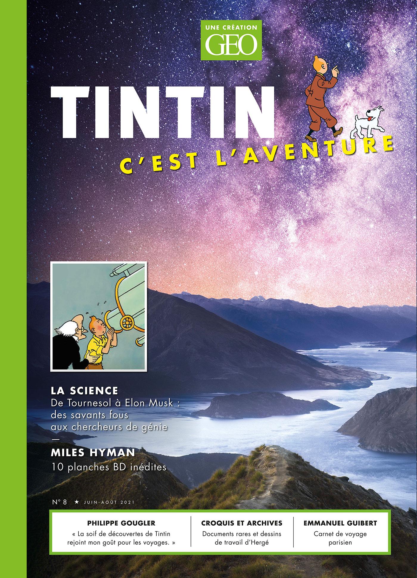 Tintin c'est l'Aventure n°8 : Aventurier de la science - couverture