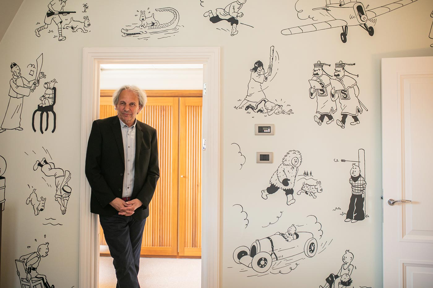 Nick Rodwell inaugure la suite Tintin à l'hôtel Amigo
