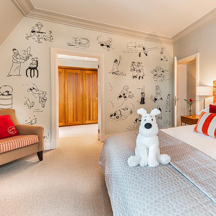 Tintin, invité privilégié à l'Hôtel Amigo