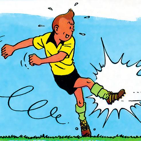Tintin and football