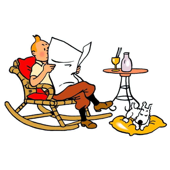 Reading Belgian (books) with Tintin