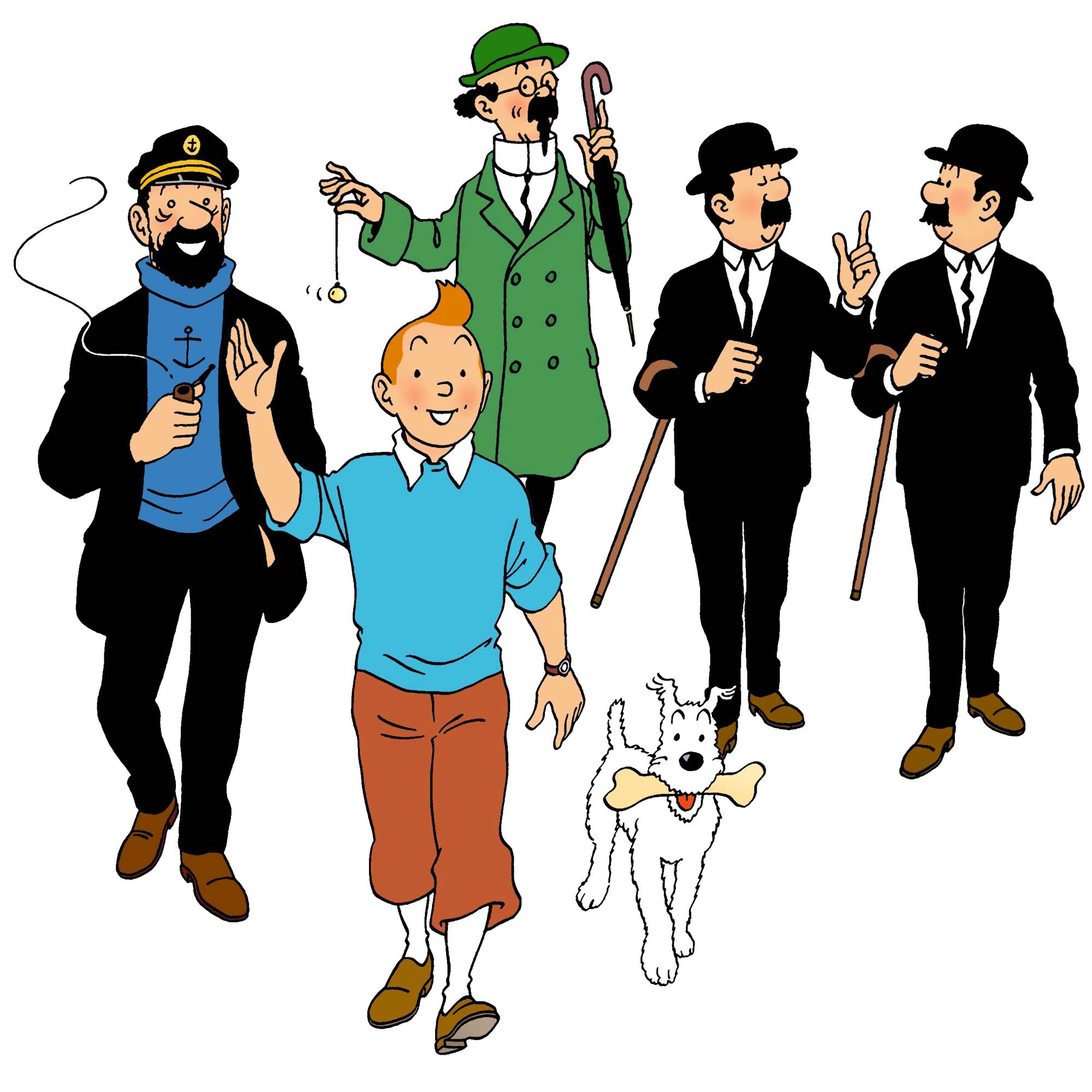 """A constant theme in """"The Adventures of Tintin"""": friendship"""