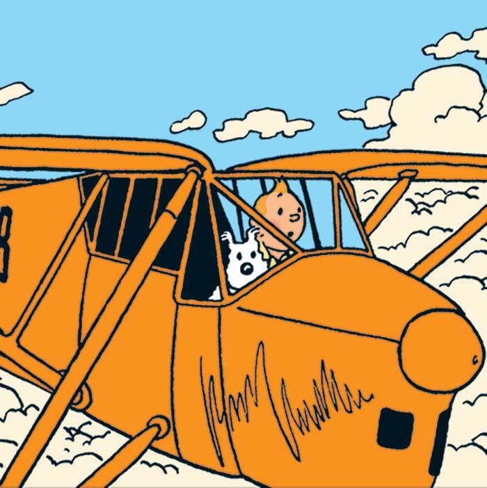 Les Aventures de Tintin dans les airs