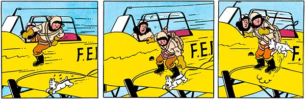 The Shooting Star Tintin saved Milou plane