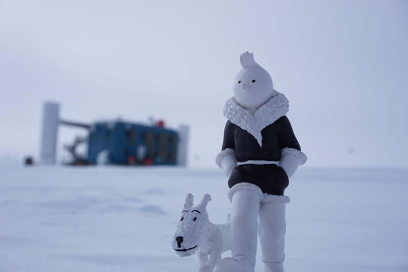 Tintin et Milou au pôle Sud