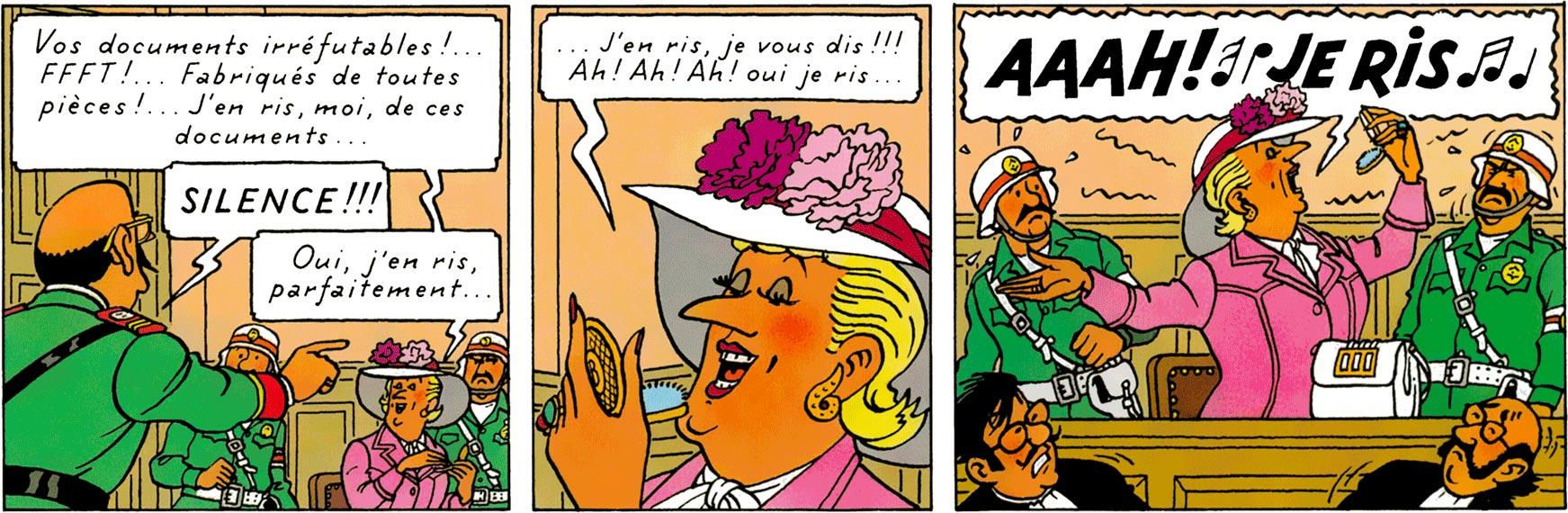 La Castafiore dans Tintin et les Picaros