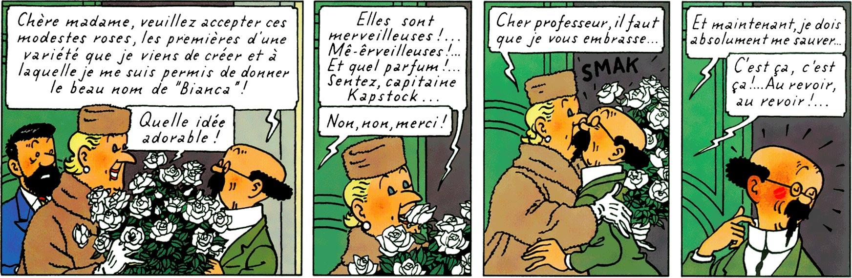 Castafiore et Tournesol dans Les Bijoux de la Castafiore