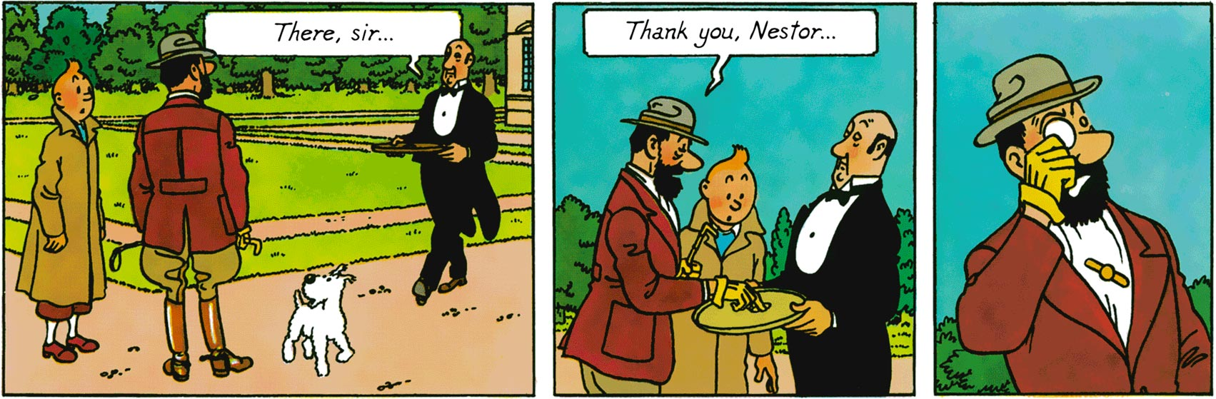 Captain Haddock in The Seven Crystal Balls
