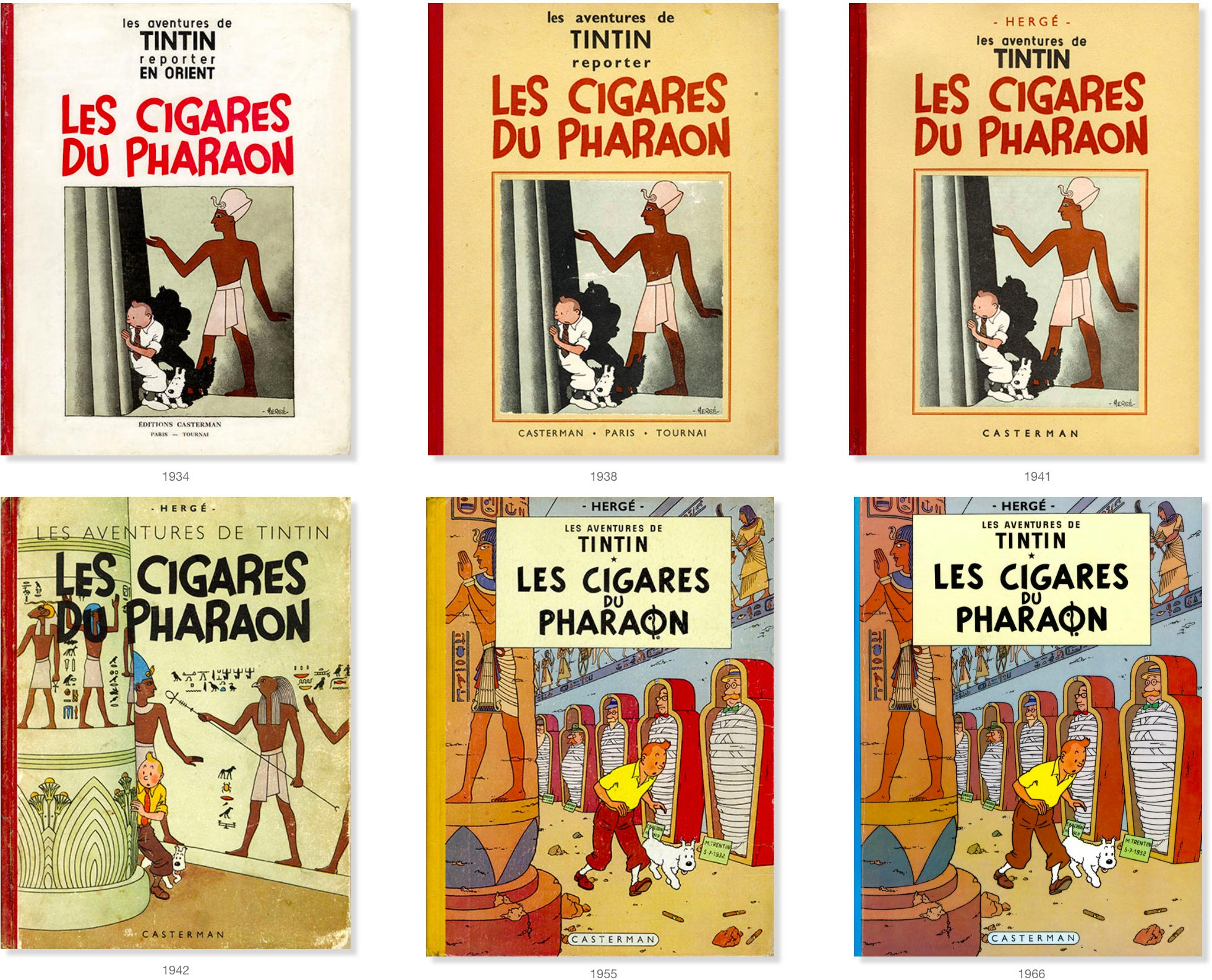 Cigars of the Pharaoh covers in French