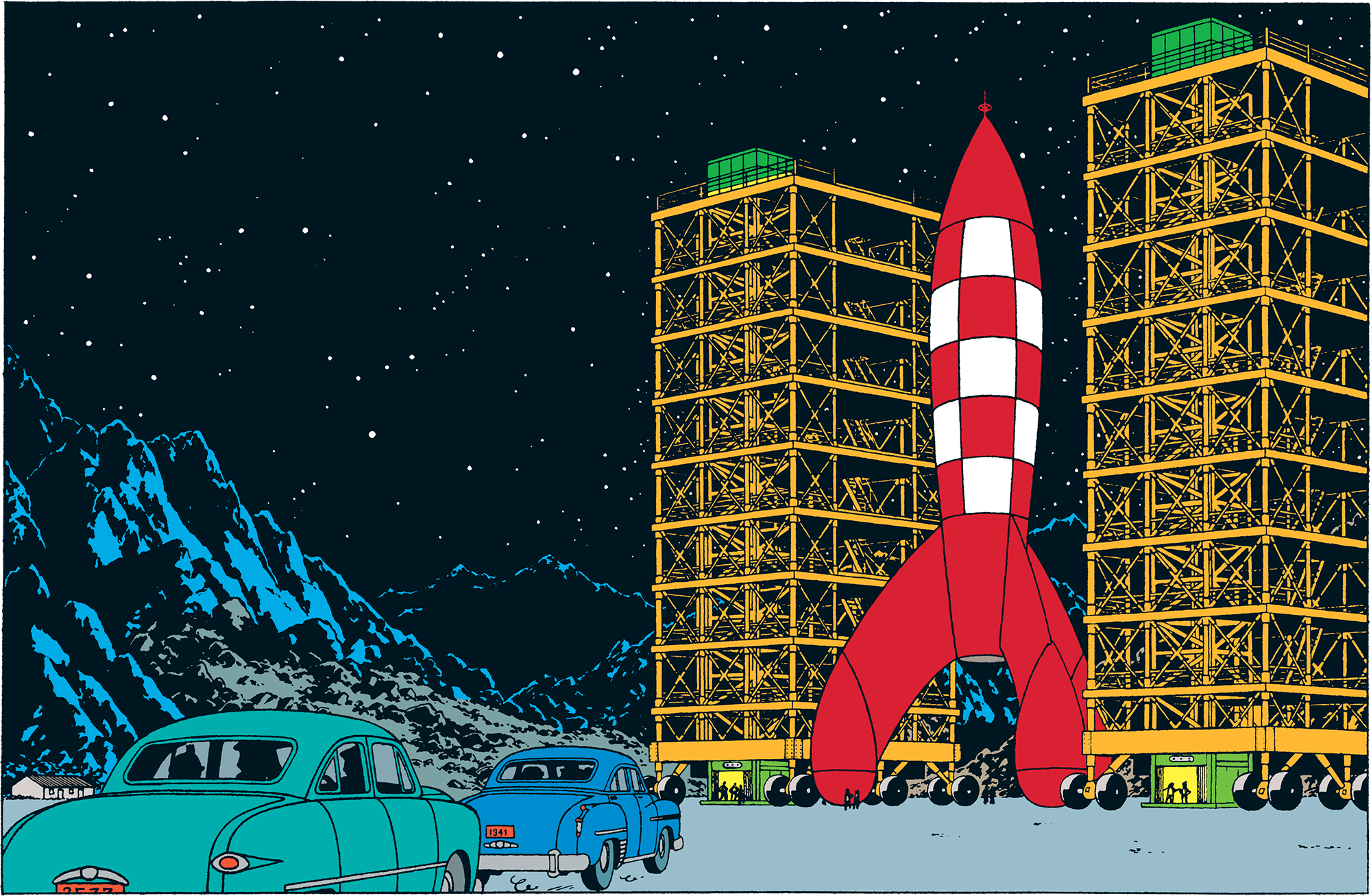 Tintin - The Adventures of Tintin - Destination Moon - The rocket