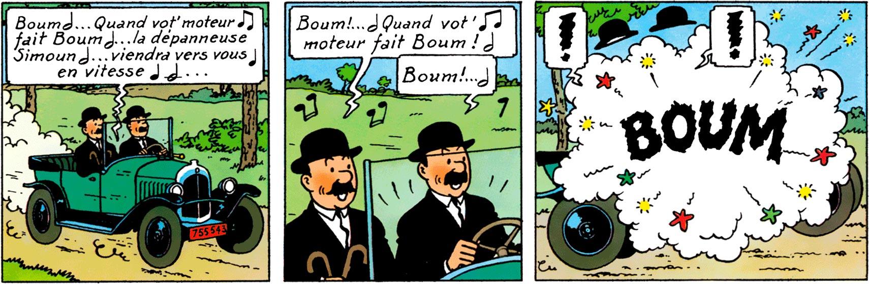 Dupondt - Tintin au pays de l'Or noir