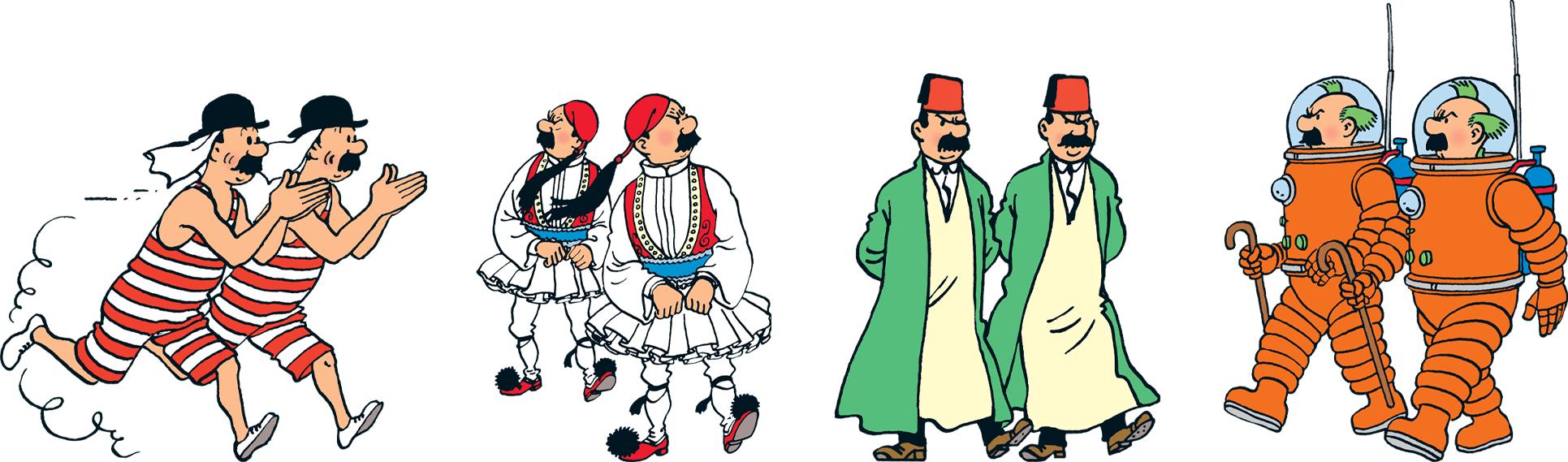 Les déguisements des Dupondt