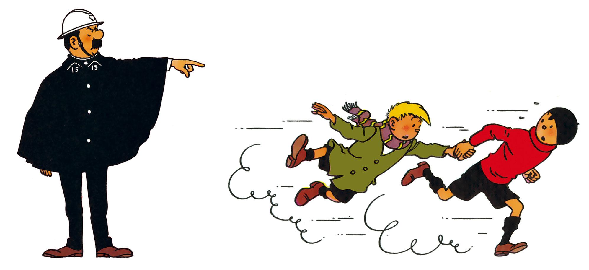 Agent 15 Inspiration personnages Les Dupondt Quick et Flupke