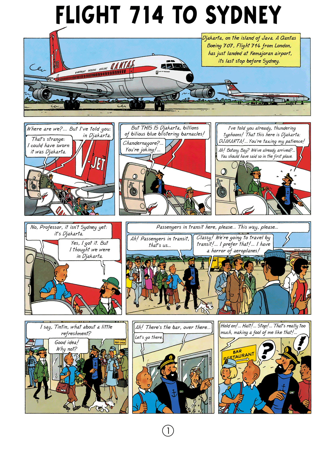 Flight 714 to Sydney - page 1